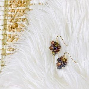 Francesca's purple drop earrings